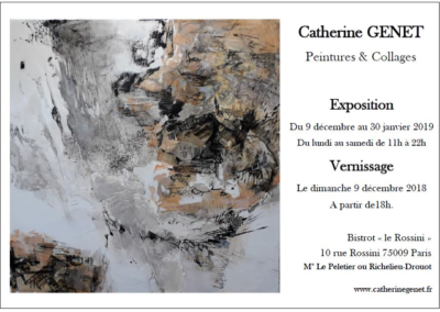 Invitation Vernissage Catherine Genet - 9 décembre 2018 - Paris 9 bis
